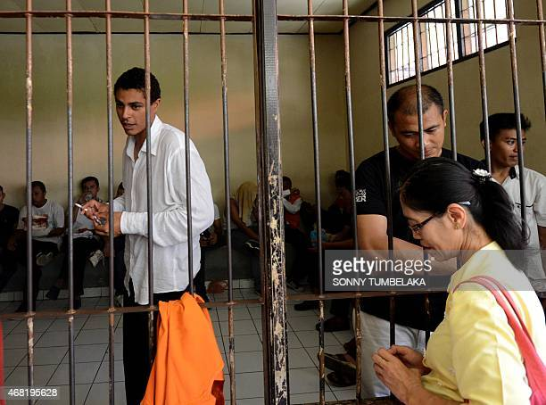 Tommy Schaefer of the US waits inside a holding cell at a court in Denpasar on Bali island on March 31, 2015. Indonesian prosecutors have recommended...