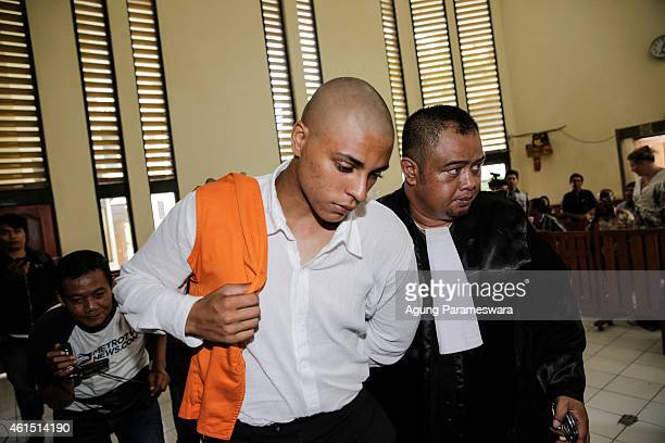 Tommy Schaefer of the US walks to a cell after his first hearing trial in a courtroom on January 14, 2015 in Denpasar, Bali, Indonesia. Tommy...