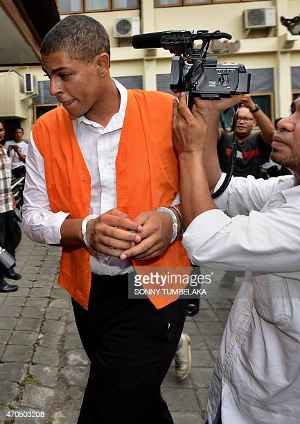 Tommy Schaefer of the US walks to the court room to hear the verdict in his murder trial in Denpasar on Indonesia's resort island of Bali on April...