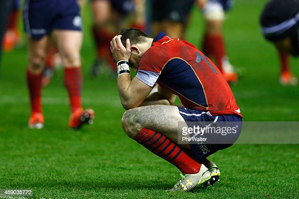Tommy Seymour of Scotland shows his dejection following the Viagogo Autumn International match between Scotland and New Zealand at Murrayfield...