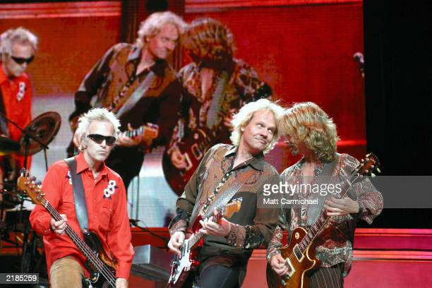 Tommy Shaw James JY Young and Glen Burtnik perform as Styx headline the second night of Loopfest sponsored by 979 WLUP radio July 19 2003 in Chicago