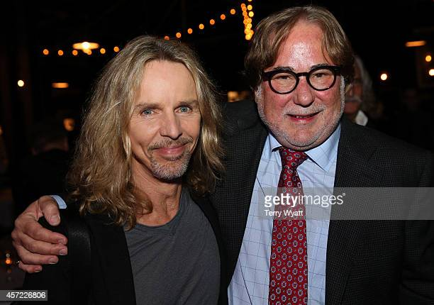 Tommy Shaw of Styx and 2014 Honoree Rod Essig attend Inspire Nashville 2 A Celebration for Possibilities Inc at Marathon Music Works on October 14...