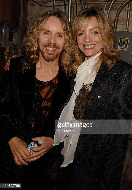 Tommy Shaw of Styx and guest during First Annual Spike TV's Guys Choice - Backstage and Audience at Radford Studios in Los Angeles, California,...