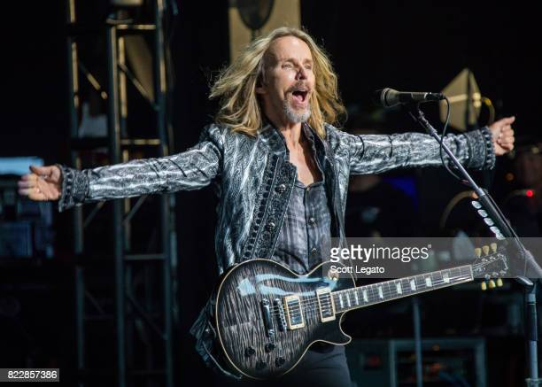 Tommy Shaw of STYX performs at DTE Energy Music Theater on July 25 2017 in Clarkston Michigan