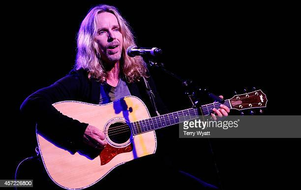 Tommy Shaw of Styx performs at Inspire Nashville 2 A Celebration for Possibilities Inc at Marathon Music Works on October 14 2014 in Nashville...