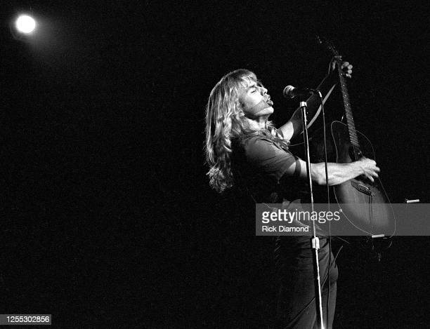 Tommy Shaw of STYX performs during Z-93 & U.S. Marines Toys for Tots at The OMNI Coliseum in Atlanta Georgia, December 14, 1980 (Photo by Rick...