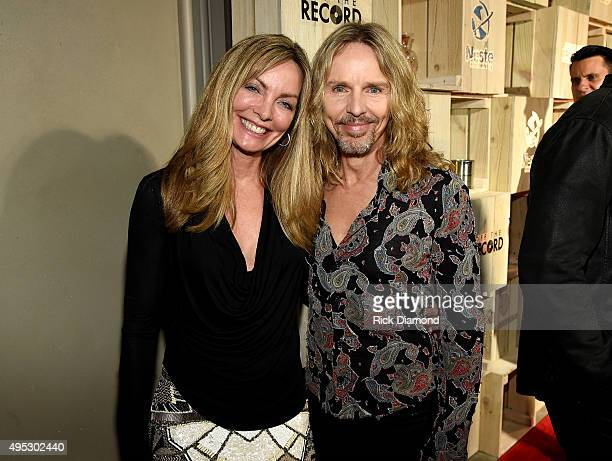 Tommy Shaw of the band Styx and Jeanne Mason attend Off The Record High End Fashion event on November 1, 2015 in Nashville, Tennessee. Featuring...