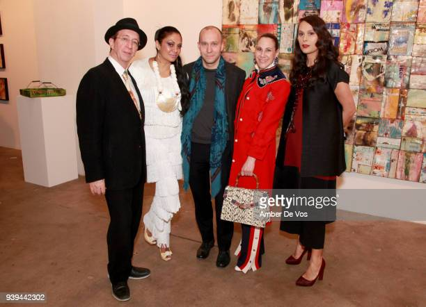 Tommy Silverman Donna D'Cruz Olivier Pechou Alyson Cafiero and Natalie Kates attend an evening for FACUNDO Rum Collection and Artist Damian Aquiles...
