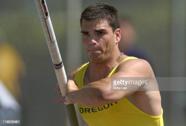 Tommy Skipper of Oregon won the men's pole vault with a yearly collegiate-leading 18-10 1/4 in the NCAA Division I West Regional Track & Field...