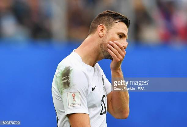 Tommy Smith of New Zealand reacts during the FIFA Confederations Cup Russia 2017 Group A match between New Zealand and Portugal at Saint Petersburg...