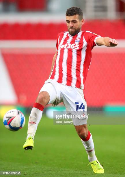 Tommy Smith of Stoke City during the Sky Bet Championship match between Stoke City and Brentford at Bet365 Stadium on October 24 2020 in Stoke on...