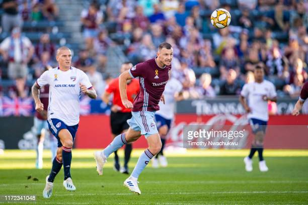 Tommy Smith of the Colorado Rapids clears the ball against FC Dallas during the first half at Dick's Sporting Goods Park on September 29 2019 in...