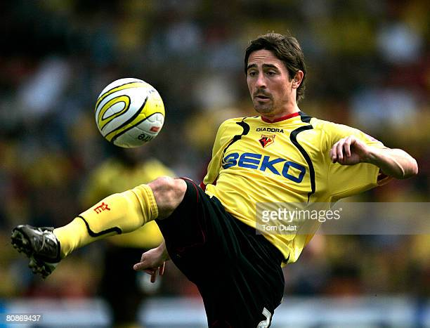 Tommy Smith of Watford in action during the Coca Cola Championship match between Watford and Scunthorpe United at Vicarage Road on April 26, 2008 in...