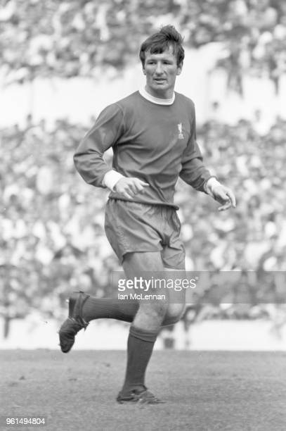 Tommy Smith playing for Liverpool FC against Tottenham Hotspur, in the Football League division 1, at White Hart Lane London on 16th August 1969.
