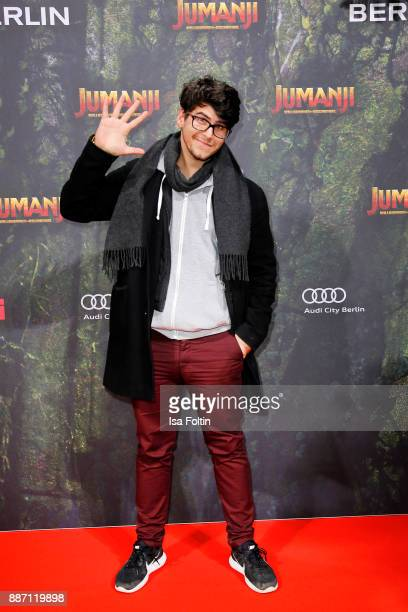Tommy Something attends the German premiere of 'Jumanji Willkommen im Dschungel' at Sony Centre on December 6 2017 in Berlin Germany