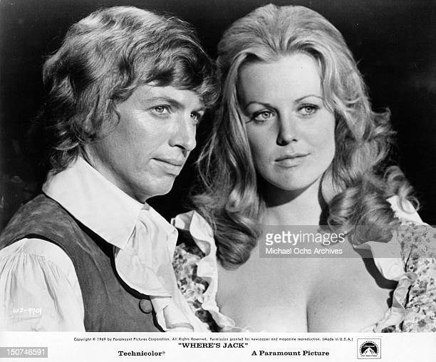Tommy Steele and Fiona Lewis in a scene from the film 'Where's Jack', 1969.