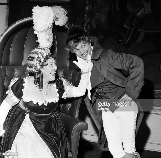 Tommy Steele as Tony Lumpkin and Peggy Mount as Hardcastle in 'She Stoops to Conquer' at the Old Vic, 2nd November 1960.