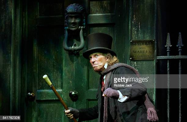 Tommy Steele in the production Scrooge at the London Palladium