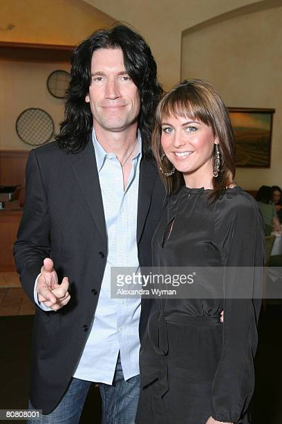 Tommy Thayer and Wife Amber at 'A Plumm Summer' after party on April 20 2008 at The Napa Grille in Westwood California