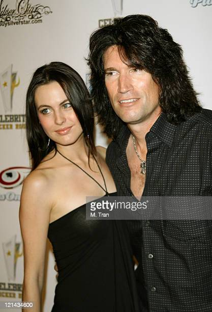 Tommy Thayer and wife Amber during 2nd Annual All Star Night at the Mansion to Benefit Autism Now at Playboy Mansion in Bel Air California United...