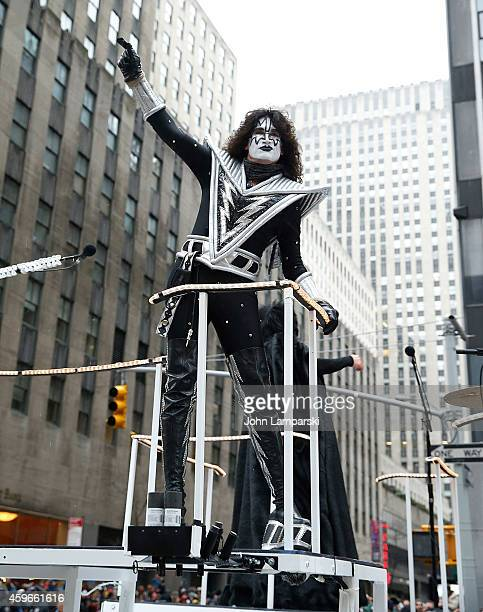 Tommy Thayer of Kiss attends the 88th Annual Macys Thanksgiving Day Parade at on November 27 2014 in New York New York