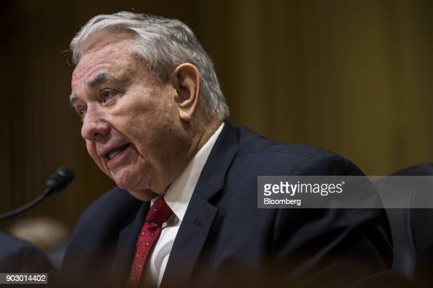 Tommy Thompson former secretary of Health and Human Services speaks during a Senate Finance Committee confirmation hearing for Alex Azar secretary of...