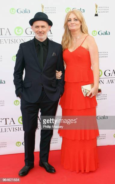 Tommy Tiernan and Yvonne McMahon attend the IFTA Gala Television Awards on May 31 2018 in Dublin Ireland