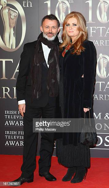 Tommy Tiernan and Yvonne McMahon attends the Irish Film and Television Awards at the Convention Centre Dublin on February 9 2013 in Dublin Ireland