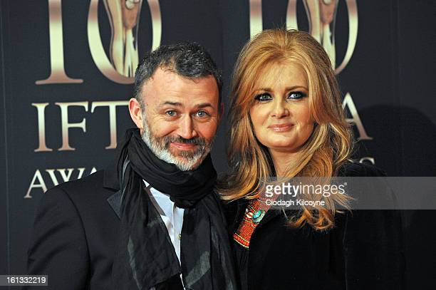 Tommy Tiernan and Yvonne McMahon attends the Irish Film and Television Awards at Convention Centre Dublin on February 9 2013 in Dublin Ireland