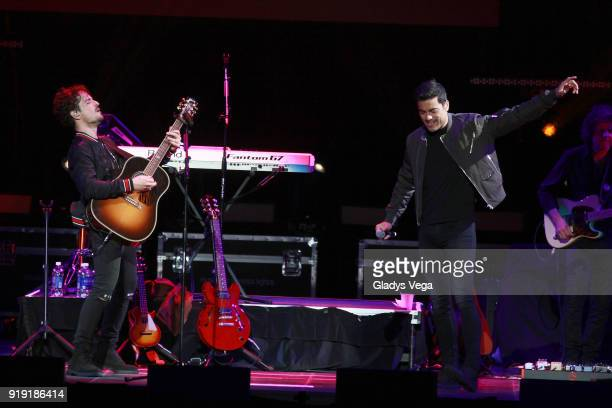 Tommy Torres performs a duet with Carlos Rivera as part of Tommy Torres concert 'Tu y Yo' at Coliseo Jose M Agrelot on February 16 2018 in San Juan...