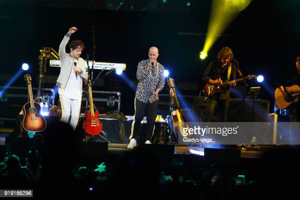 Tommy Torres performs a duet with Willie Rodriguez as part of Tommy Torres concert 'Tu y Yo' at Coliseo Jose M Agrelot on February 16 2018 in San...