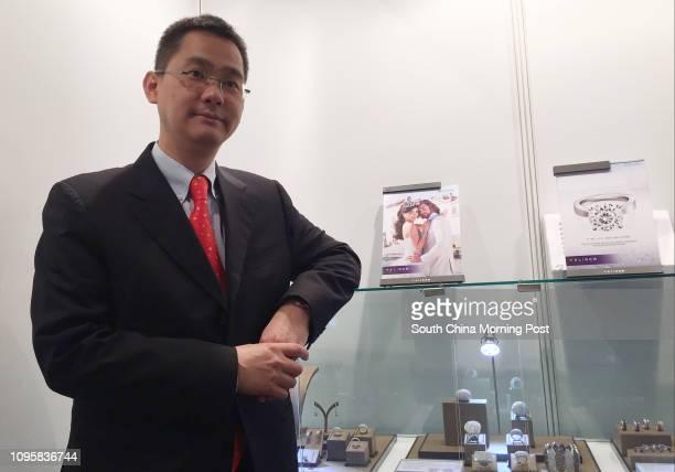 Tommy Tse Tatfung deputy CEO of TSL Jewellery attending a trade fair in Jakarta organised by Trade Development Council in September 2015 Photos taken...