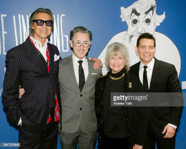 Tommy Tune Alan Cumming Louise Kerz Hirschfeld and Michael Feinstein attend the VIP reception of The Line King Al Hirschfeld At The New York Public...