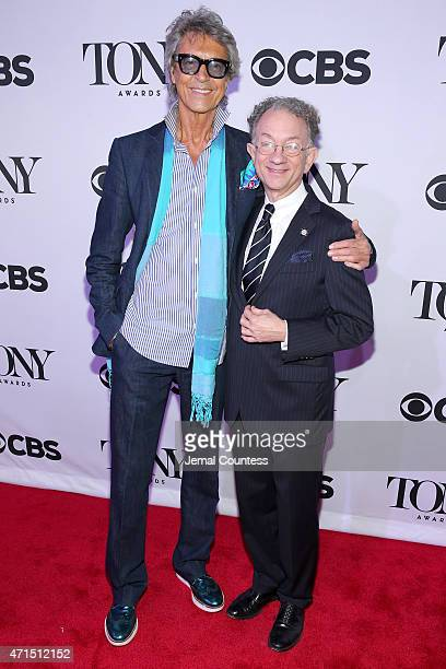 Tommy Tune and Chairman of the American Theatre Wing William Ivey Long attend the 2015 Tony Awards Meet The Nominees Press Reception at the Paramount...