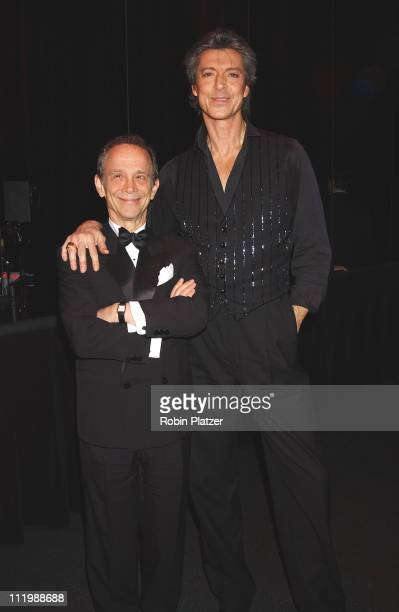 Tommy Tune and Joel Grey during Opening night of Tommy Tune White Ties And Tails at Little Shubert Theater in New York NY United States