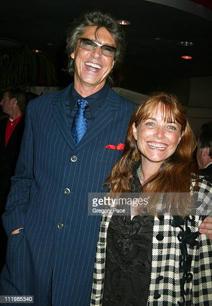 Tommy Tune and Karen Allen during Opening Night of The Boy From Oz Arrivals and After Party at Imperial Theatre in New York City New York United...