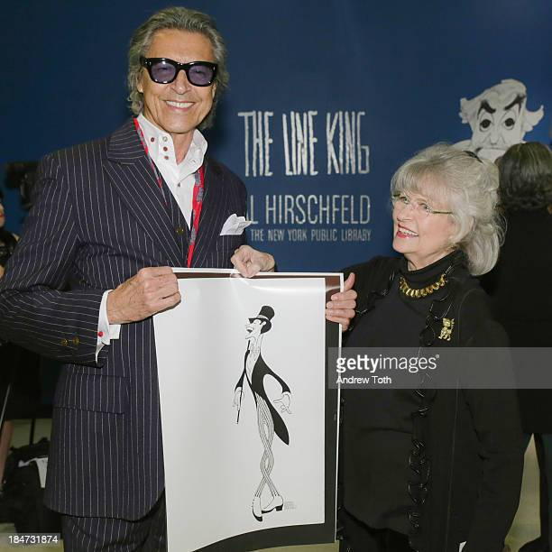 Tommy Tune and Louise Kerz Hirschfeld attend the VIP reception of The Line King Al Hirschfeld At The New York Public Library at The New York Public...