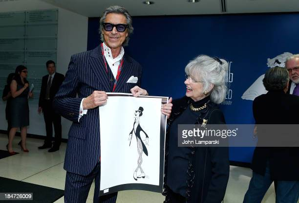 Tommy Tune and Louise Kerz Hirschfeld attends the VIP reception of The Line King Al Hirschfeld At The New York Public Library at The New York Public...