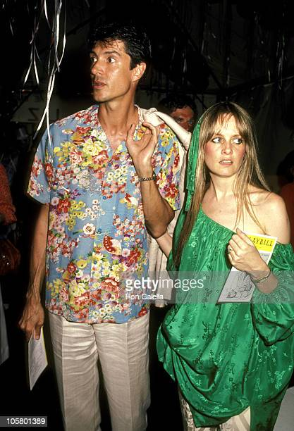 Tommy Tune and Twiggy during Tommy Tune and Twiggy at the Limelight in New York City June 1 1983 at Limelight in New York City New York United States