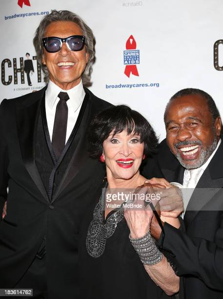 Tommy Tune Chita Rivera and Ben Vereen attend after concert reception at Blue Fin on October 7 2013 in New York City