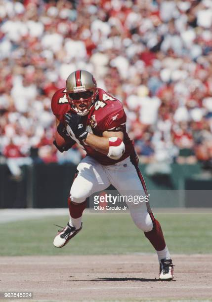 Tommy Vardell Running Back for the San Francisco 49ers during the National Football Conference West game against the Atlanta Falcons on 29 September...