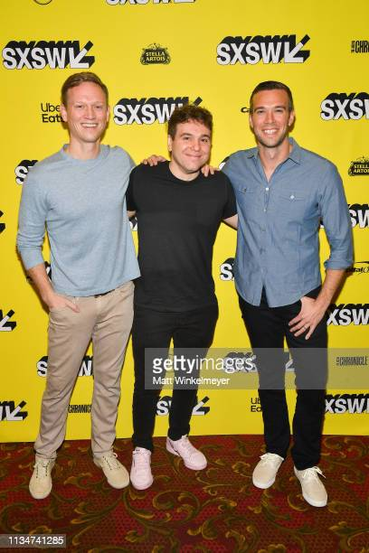 """Tommy Vietor, Jon Lovett, and Jon Favreau attend the """"Running with Beto"""" Premiere 2019 SXSW Conference and Festivals at Paramount Theatre on March..."""