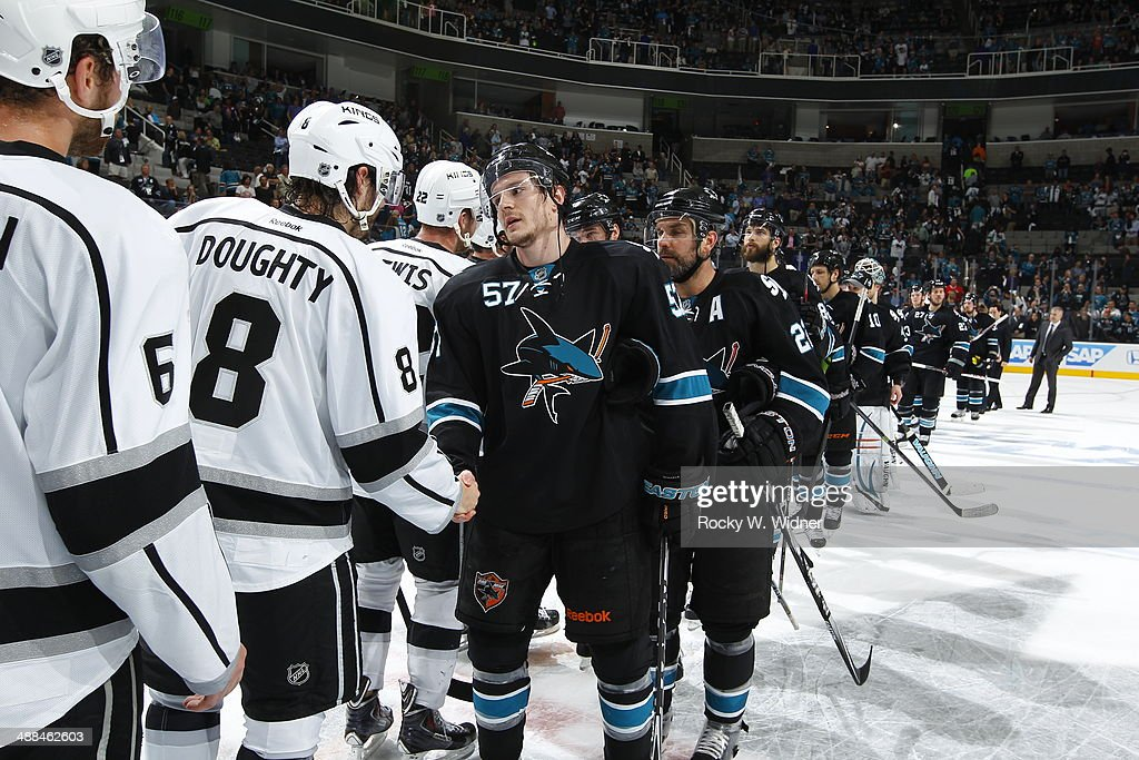Los Angeles Kings v San Jose Sharks - Game Seven : News Photo