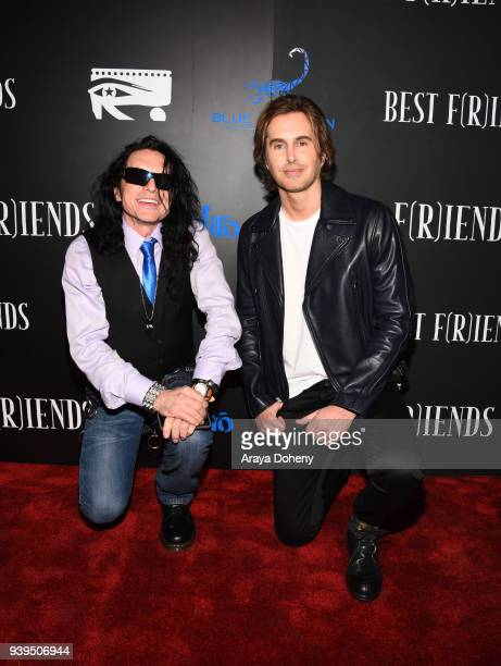 Tommy Wiseau and Gregory Sestero attend the Best Fiends Los Angeles Premiere at the Egyptian Theatre on March 28 2018 in Hollywood California