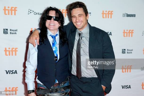 Tommy Wiseau and James Franco attend The Disaster Artist premiere during the 2017 Toronto International Film Festival at Ryerson Theatre on September...