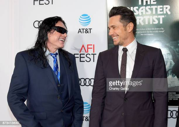 Tommy Wiseau and James Franco attend 'The Disaster Artist' Presented by Audi at AFI Festival at The Hollywood Roosevelt Hotel on November 12 2017 in...