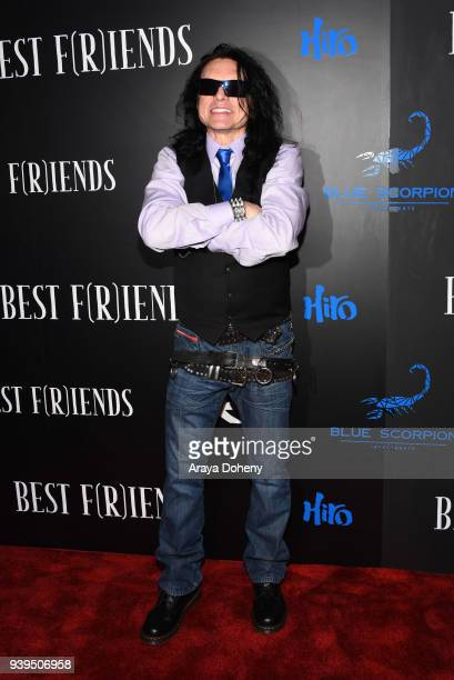 Tommy Wiseau attends the Best Fiends Los Angeles Premiere at the Egyptian Theatre on March 28 2018 in Hollywood California