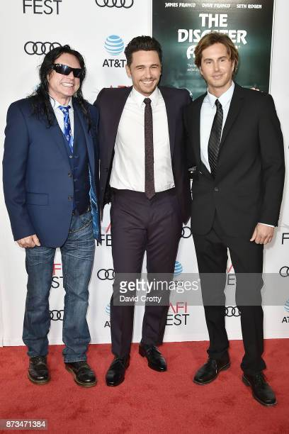 Tommy Wiseau James Franco and Greg Sestero attend the AFI FEST 2017 Presented By Audi Screening Of 'The Disaster Artist' Arrivals at TCL Chinese...