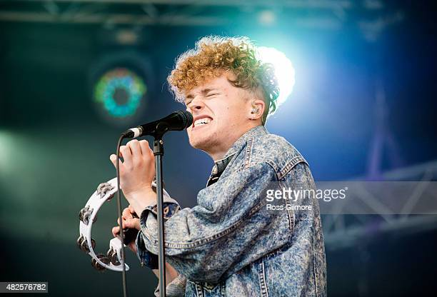 Tommy Wright of Young Kato performs on the main stage at the Wickerman festival at Dundrennan on July 25 2015 in Dumfries Scotland