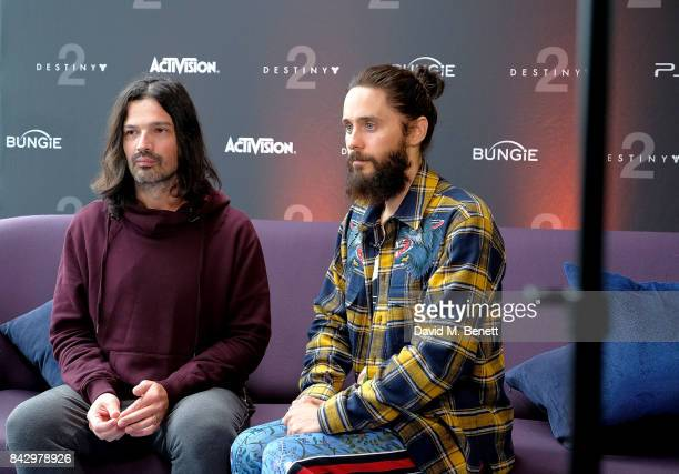 Tomo Milicevi and Jared Leto of 30 Seconds to Mars attend the Destiny 2 launch event on PlayStation 4 Available from Wednesday 6th September 2017...